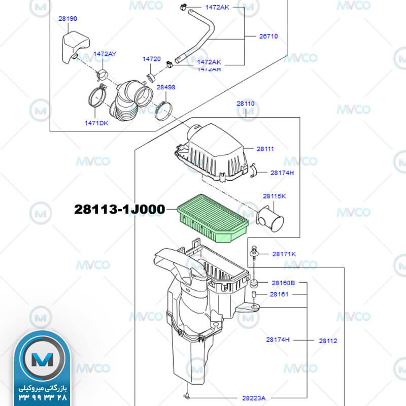 فیلتر هوا I20 جنیون